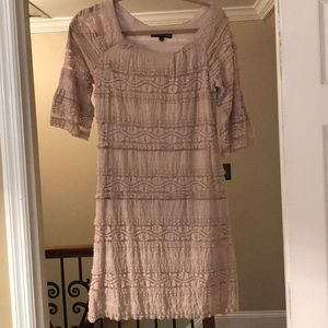 Stunning tan lace dress
